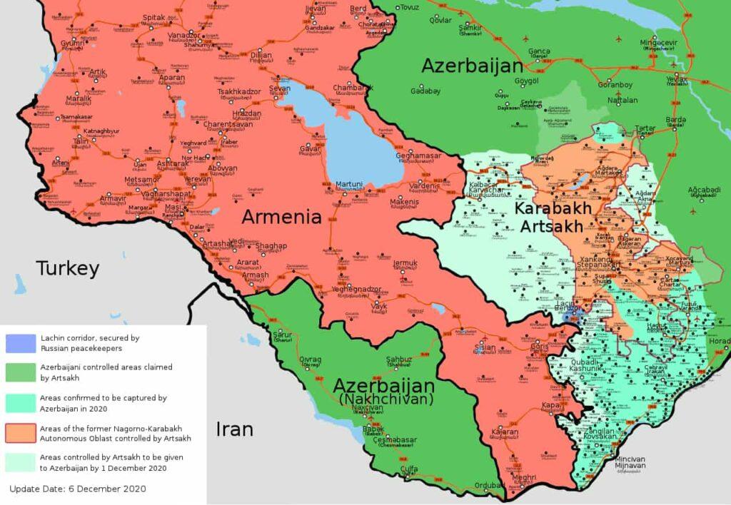 Mapa walk o Górski Karabach